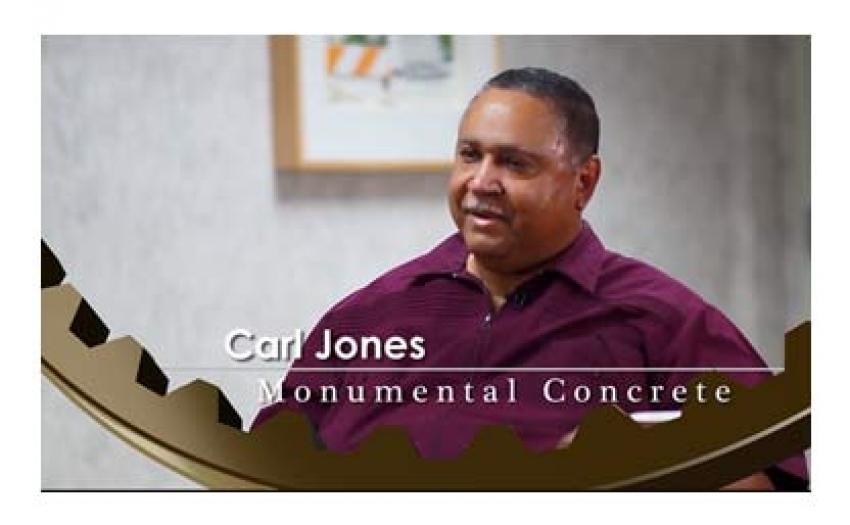 Mr. Carl Jones - Monumental Concrete - INTERVIEW